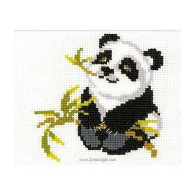 Mini point de croix RIOLIS panda et branche de bambou