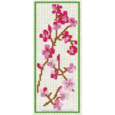 Marque page Luc Création cerisière à broder
