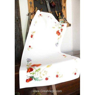 Kit chemin de table imprimé esprit champêtre en broderie traditionnelle - Avila