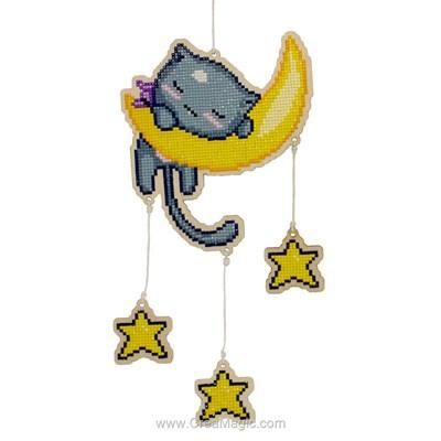 Kit broderie diamant Wizardi moon cat