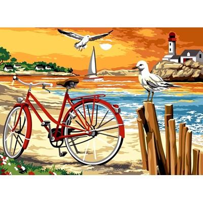 Ballade à vélo sur la plage canevas chez SEG
