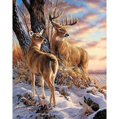 Broderie diamant Wizardi deer in winter