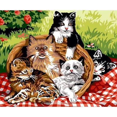 Le panier des chat canevas de Margot