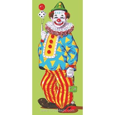 Le clown et le dé canevas de Collection d'art