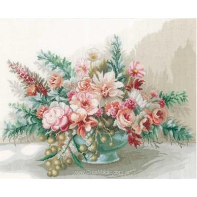 Kit à broder bouquet élégance de fleurs de Lanarte