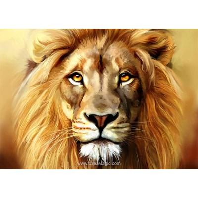 Broderie diamant Collection d'art lion royal