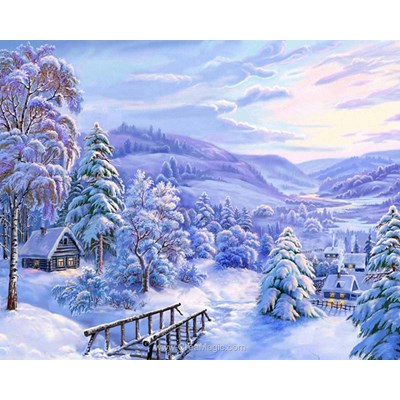 Kit broderie diamant winter fairytale de Diamond Painting