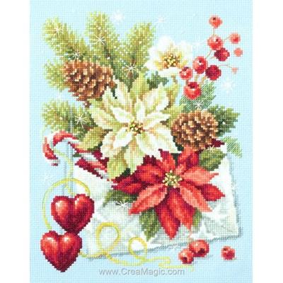 Kit tableau point de croix Magic Needle lettre de voeux merry christmas