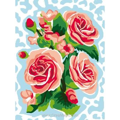 Kit canevas Luc Création pour débutant roses