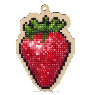 Kit broderie diamant Wizardi strawberry
