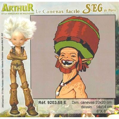 Arthur et les minimoys - e kit canevas complet - SEG