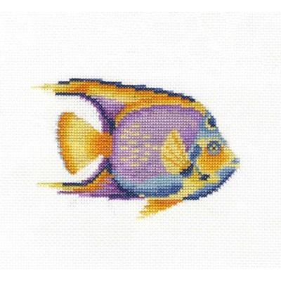 Kit point de croix poisson tropical aquatique de DMC