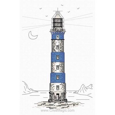 Broderie en point compté phare bleu - Marie Coeur
