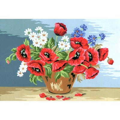 Vase des champs canevas - Collection d'art