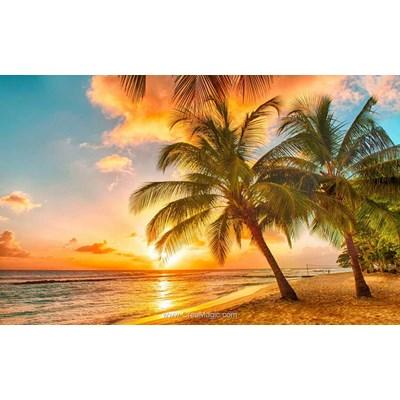 Kit broderie diamant coucher de soleil tropical - Diamond Painting
