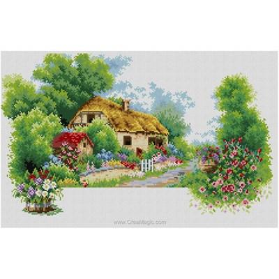 Kit broderie diamant spring house de Diamond Painting