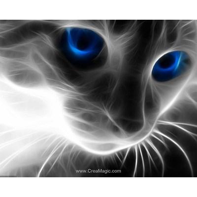 Broderie diamant Diamond Painting cat's look