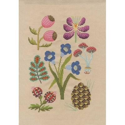 Modèle broderie au point de croix collection fleurs & botanique - la forêt de DMC