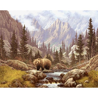 Kit broderie diamant l'ours dans la vallée de Diamond Painting