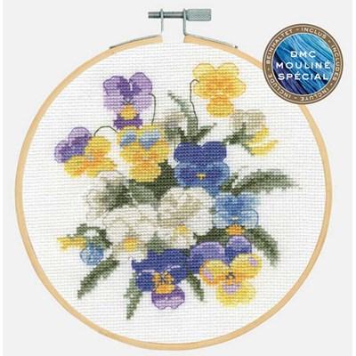 Collection flows - violettes kit à broder au point de croix - DMC