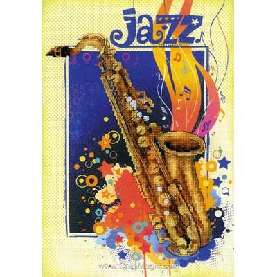 Broderie de RIOLIS au point de croix jazz