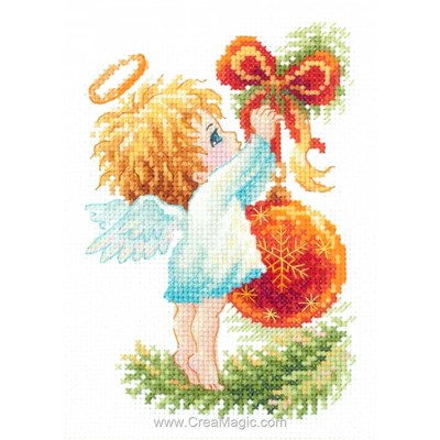 L'ange et la boule de noël modèle broderie - Magic Needle