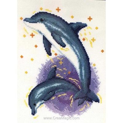 Modèle point de croix Vervaco danse des dauphins