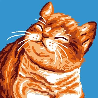 Kit canevas chat ronronnant de Luc Création