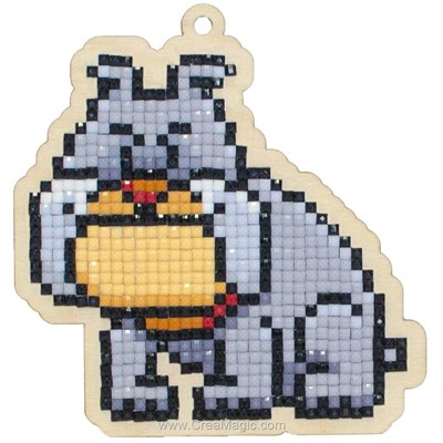 Kit broderie diamant bulldog de Wizardi