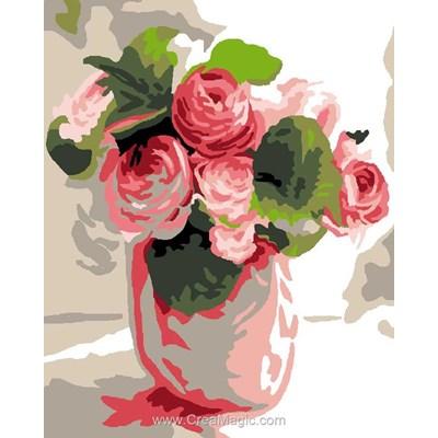 Kit canevas Luc Création pour débutant vase
