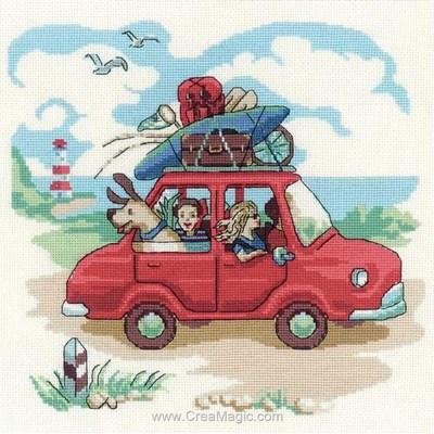 Départ de vacances modèle broderie au point de croix - RIOLIS