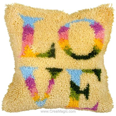 Kit coussin point noué love - Orchidea