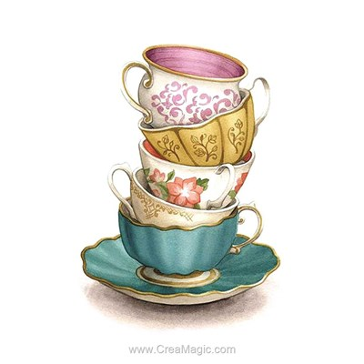 Kit broderie diamant collection of the cups - Diamond Painting