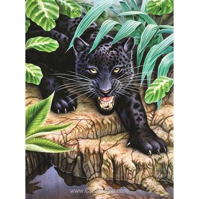Kit broderie diamant Diamond Painting black panther