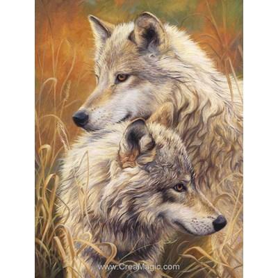 Broderie diamant Diamond Painting tendresse de loups