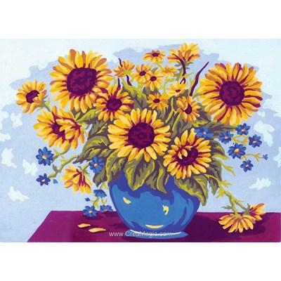 Collection d'art canevas vase ensoleillé