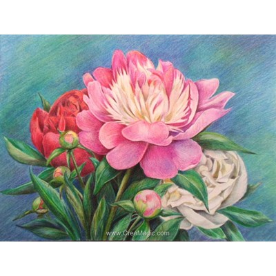 Kit broderie diamant bouquet of peonies - Diamond Painting