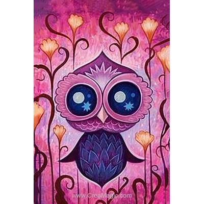 Broderie diamant Wizardi owl leia