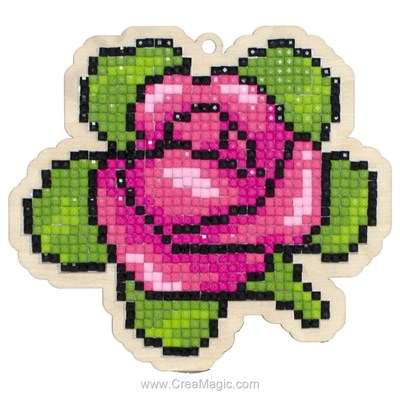 Kit broderie diamant aromatic rose de Wizardi
