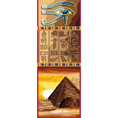 Hiéroglyphes et pyramide canevas - Luc Création