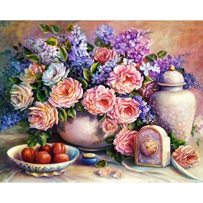 Kit broderie diamant pink still life de Diamond Painting
