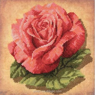 Modèle broderie RIOLIS rose éclatante