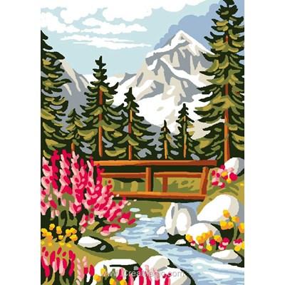 Canevas petit pont des alpes - Luc Création