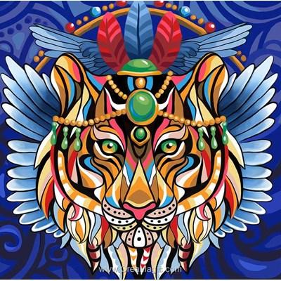 Broderie diamant Diamond Painting tigre mystique