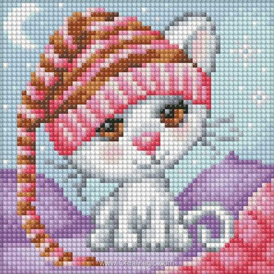 Broderie diamant dreaming cat - Diamond Painting
