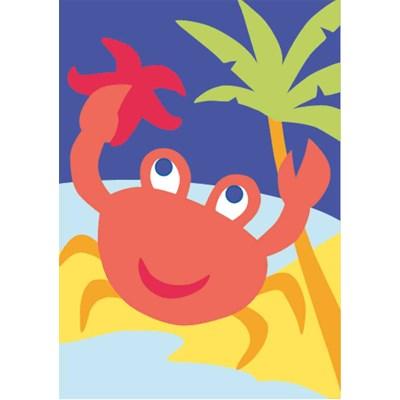 Kit canevas DMC pour enfants le crabe clown