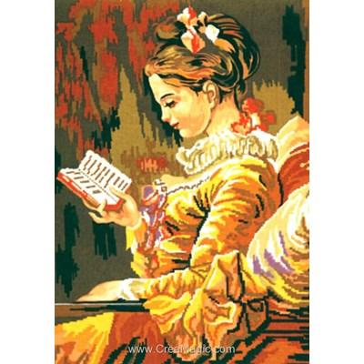 Canevas la femme à la lecture de Collection d'art