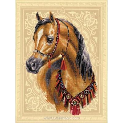 Broderie modele point de croix cheval arabe - RIOLIS