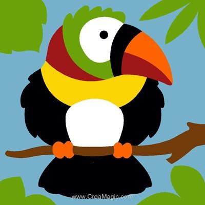 Kit canevas débutant toucan ébouriffé de Margot