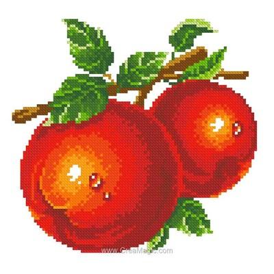 Broderie diamant red apples de Diamond Painting